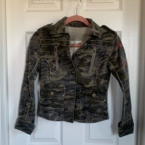 Aeropostale Camo military utility jacket